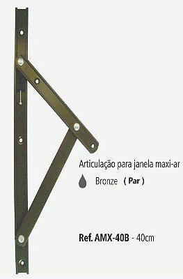 Perfil - Maxi-Ar - AMX-40B - Articulação p/ Janela 40cm - Bronze