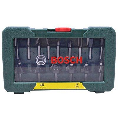 "Bosch - Jogo de Fresas H1/4"" - 15pcs"