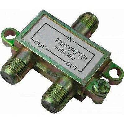 InterNeed - Divisor de Antena SP2 (1 para 2 saídas de Baixa = 5-900MHZ) (ftz)