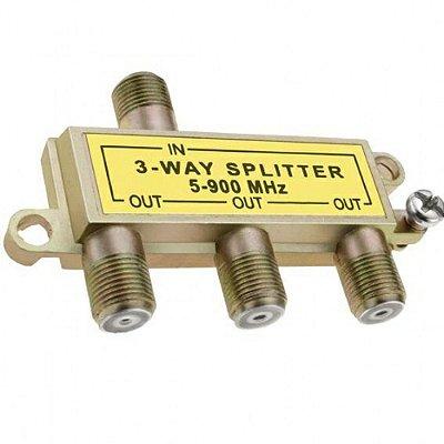 InterNeed - Divisor de Antena SP3 (1 para 3 saídas de Baixa = 5-900MHZ) (ftz)