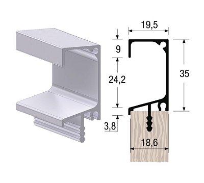 Alternativa - Perfil Puxador 7013T 18mm Inox Escovado 6,0 m