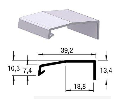 Alternativa - Perfil Puxador AREZZO 18mm Inox Escovado 6,0 m