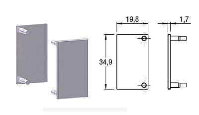Alternativa - Ponteira 01 Lat 18mm Reta Anodizado 2013T, 4018T, 5013T, 6018Tw