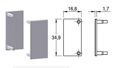 Alternativa - Ponteira 02 Lat 15mm Reta Inox Escovado 4013T, 4016T, 4015TE, 6015T