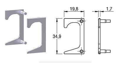 Alternativa - Ponteira 07 Lat 18mm 5013T Vazada Inox Escovado Par Direita e Esquerda