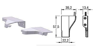 Alternativa - Ponteira 12 Lat 18mm AREZZO Inox Escovado Par Direita e Esquerda