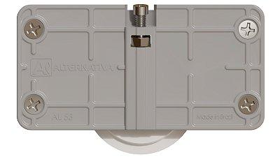 Alternativa - Sistema de Correr AL 53 - Com Guia Auto Ajustável Rodizio PU GA07