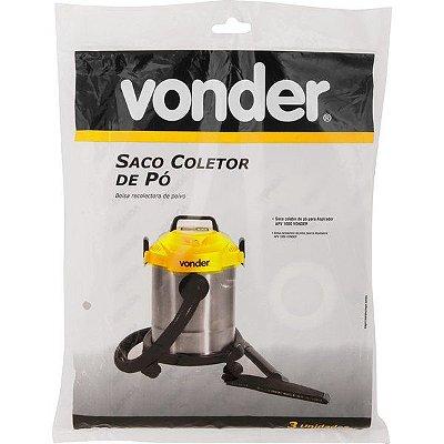 VONDER - Saco Coletor de Pó p/ Aspirador APV1000 - 3 Peças