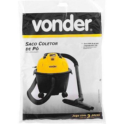 VONDER - Saco Coletor de Pó p/ Aspirador APV1210 - 3 Peças