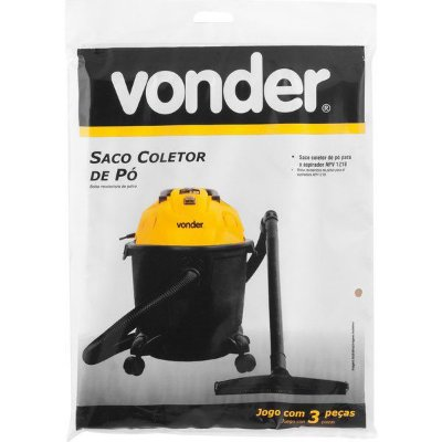 VONDER - Saco Coletor de Pó p/ Aspirador APV1218 - 3 Peças