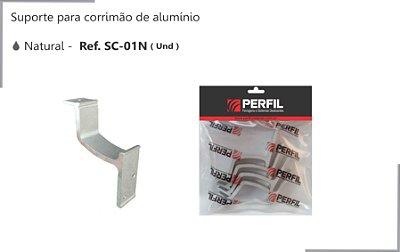 PERFIL - Suporte de Alumínio p/ Corrimão - Natural - SC-01N