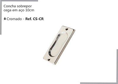 PERFIL - Concha Cega Sobrepor 10cm - CS-CR - Aço - Cromado