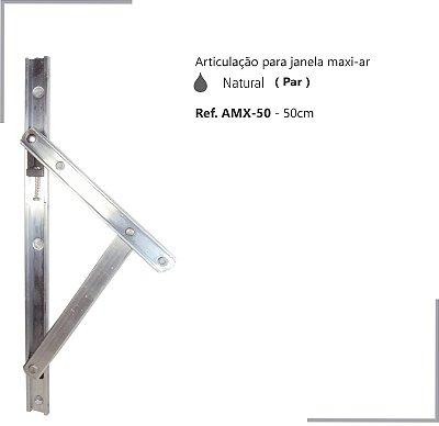 PERFIL - Maxi-Ar - AMX-50 - Articulação p/ Janela 50cm - Natural