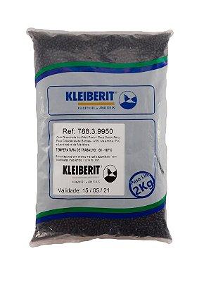 Kleiberit - Cola Granulada Hot Melt Preta 788.3.99 - 2kg - p/ Coladeiras de Bordos - ABS, Melamina, PVC e Laminados