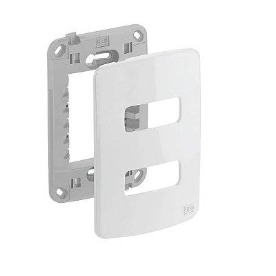 WEG - Composé - Placa e Suporte 4x2 - 2 Posições - Branco