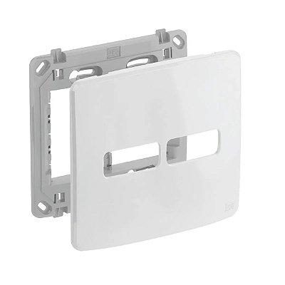 WEG - Composé - Placa e Suporte 4x4 - 2 Posições (1  1) - Branco