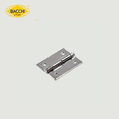 Biacchi - Dobradiça p/ Artesanato - 15 x 11mm Furo 1,20 - Aço Niquelado - DB5055-15ANQ