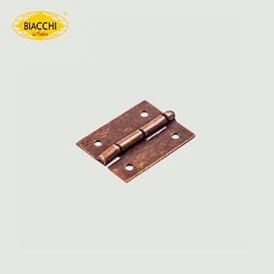 Biacchi - Dobradiça p/ Artesanato - 15 x 11mm Furo 1,20 - Aço Ouro Velho - DB5055-15AOV