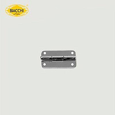 Biacchi - Dobradiça p/ Artesanato Canto Redondo - 15 x 11mm Furo 1,20 - Aço Niquelado - DB5055R-15ANQ