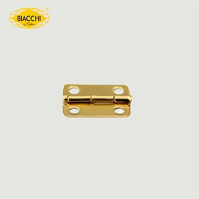 Biacchi - Dobradiça p/ Artesanato Canto Redondo - 15 x 11mm Furo 2,40 - Aço Latonado - DB5155R-15ALT