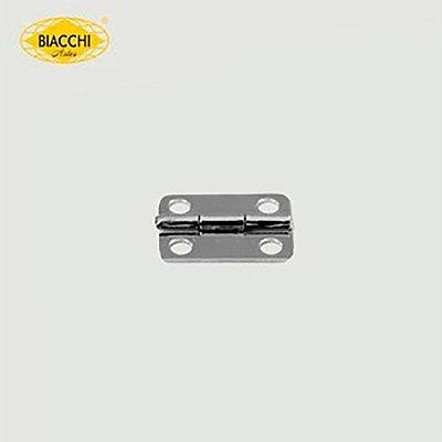 Biacchi - Dobradiça p/ Artesanato Canto Redondo - 15 x 11mm Furo 2,40 - Aço Niquelado - DB5155R-15ANQ