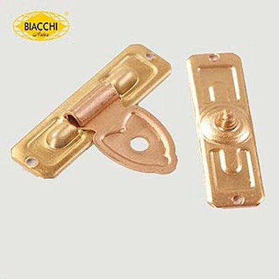 Biacchi - Fecho p/ Artesanato 5200 - Furo Pequeno - Latão Polido