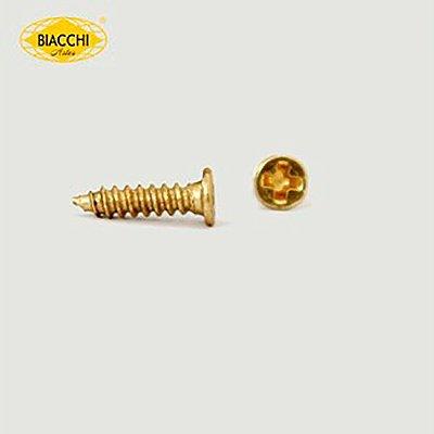 Biacchi - Parafuso Cabeça Chata - 9 x 2,20mm - Aço Latonado