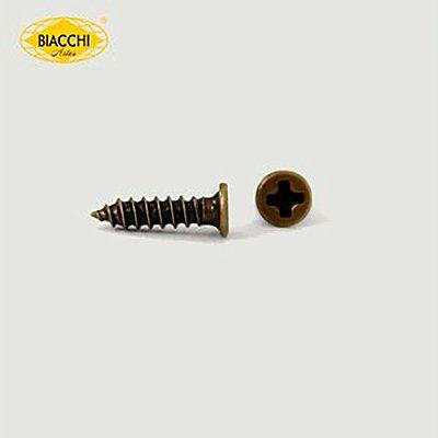Biacchi - Parafuso Cabeça Chata - 9 x 2,20mm - Aço Ouro Velho