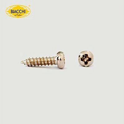 Biacchi - Parafuso Cabeça Panela - 10 x 2,20mm - Aço Niquelado