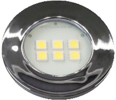 Artetílica Nuze - Luminária Pontual Circular - 6 Super LED 3000K - 110/220V Cromado - E315.C