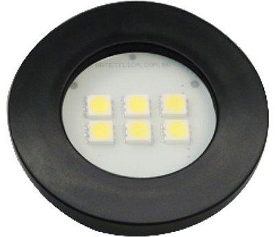 Artetílica Nuze - Luminária Pontual Circular - 6 Super LED 6000K - 110/220V Preto - E515.P