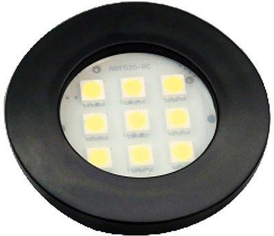 Artetílica Nuze - Luminária Pontual Circular - 9 Super LED 3000K - 110/220V Preto - E311.P