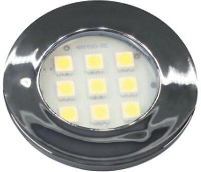 Artetílica Nuze - Luminária Pontual Circular - 9 Super LED 6000K - 110/220V Cromado - E511.C