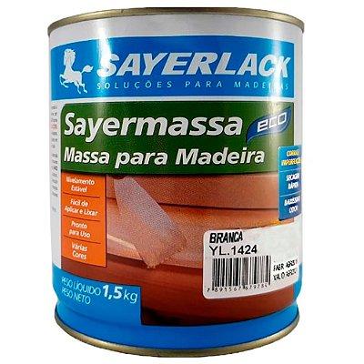 Sayerlack - Massa para madeira Sayermassa BRANCA - 1,50KG - YL.1424.02QT