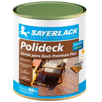 Sayerlack - Verniz para Deck POLIDECK Semibrilho NATURAL - 0,90L - SB.2316.427CQT