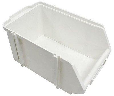 SK Plásticos - Gaveta Plástica Bin N°.4 (9,2 x 11,3 x 20 cm) Branca