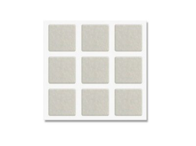Bemfixa - Protetor Adesivo de Feltro Quadrado Branco - 30 x 30mm - 9 unid.