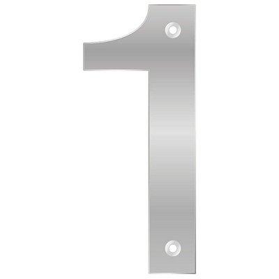 Bemfixa - Número Residencial ABS 1 - Alumínio - 145mm