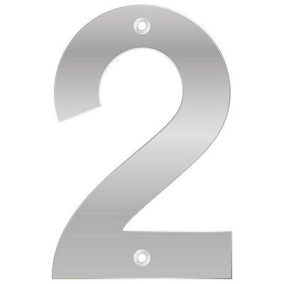 Bemfixa - Número Residencial ABS 2 - Alumínio  - 145mm