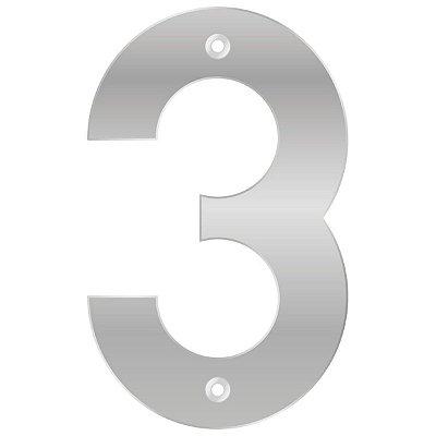 Bemfixa - Número Residencial ABS 3 - Alumínio - 145mm