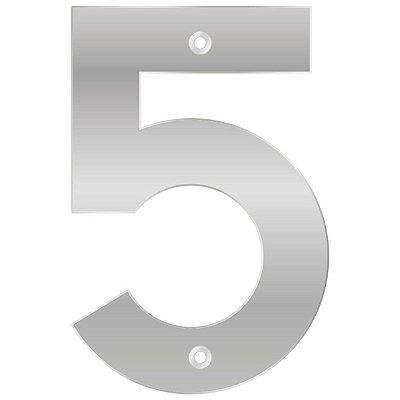Bemfixa - Número Residencial ABS 5 - Alumínio - 145mm