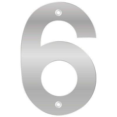 Bemfixa - Número Residencial ABS 6 - Alumínio - 145mm