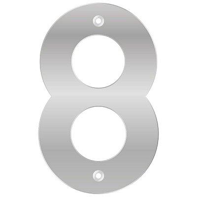 Bemfixa - Número Residencial ABS 8 - Alumínio - 145mm
