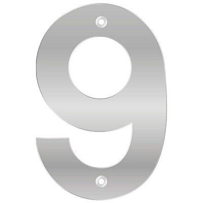 Bemfixa - Número Residencial ABS 9 - Alumínio - 145mm