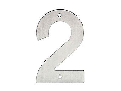 Bemfixa - Número Residencial em Inox - 2 - 145mm