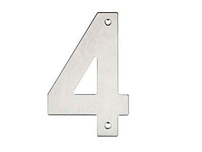 Bemfixa - Número Residencial em Inox - 4 - 145mm