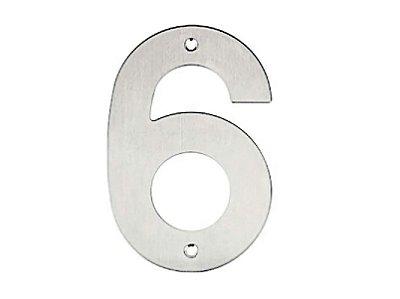 Bemfixa - Número Residencial em Inox - 6 - 145mm
