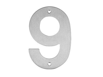 Bemfixa - Número Residencial em Inox - 9 - 145mm