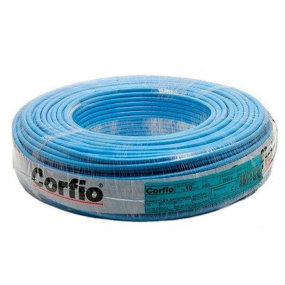 Corfio - Rolo Cabo Flexível 750V 04,00mm 100MT Azul - Antichama BWF  (ftz)