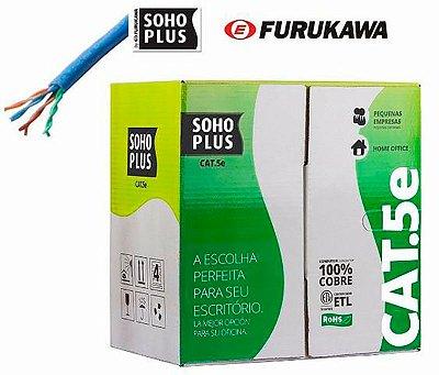 Furukawa - Cabo Rede Lan Cat .5E (Rj45) Utp Soho Plus Azul Caixa 305 Metros  (ftz)